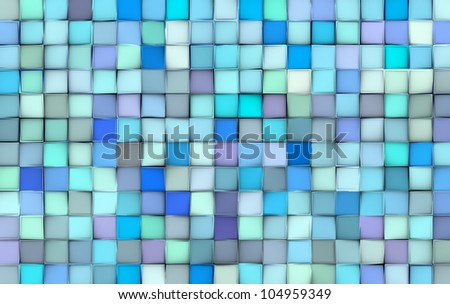 abstract tile pattern mixed blue purple surface backdrop - stock photo