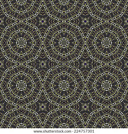 Abstract tileable seamless regular ornamental mosaic pattern - stock photo