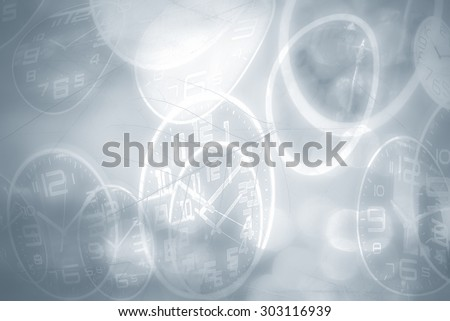 Abstract time conceptual, blurred vintage background. - stock photo