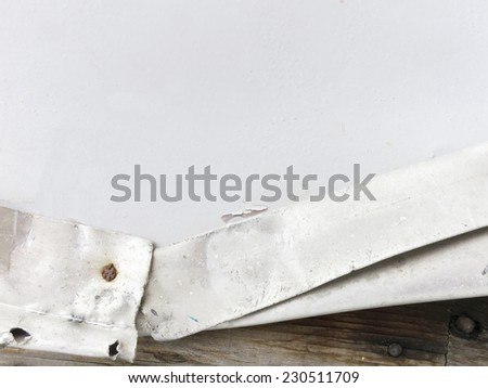 Abstract  tin and wood background - close up