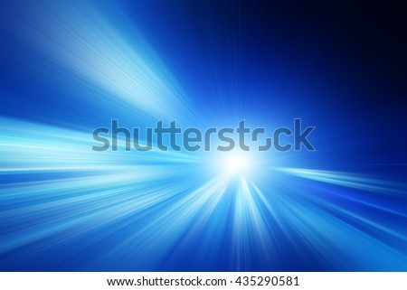 Abstract toned image of speed motion on the road. - stock photo