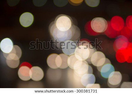 Abstract traffic circle light blurred backgrounds,out of focused concept. - stock photo