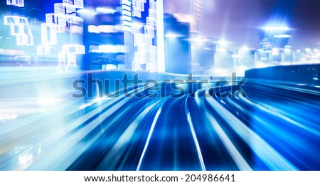 Abstract train moving - stock photo