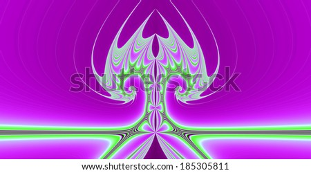 Abstract tree background with a detailed spiraling pattern in high resolution in bright pink and green colors