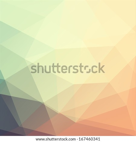Abstract triangle art - raster version - stock photo