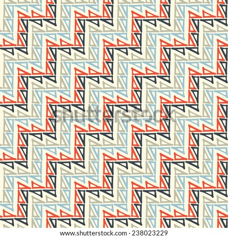 Abstract triangle build diagonal zigzag stroke background. Seamless pattern.  - stock photo