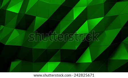 abstract triangle dark 3d rendered geometric background with spikes  - stock photo