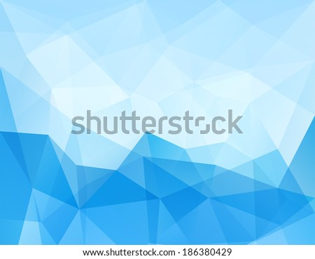 Abstract Triangle Geometrical Blue Background, Raster Version - stock photo