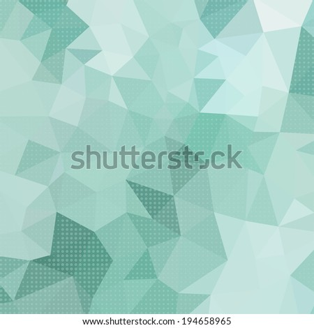 Abstract Triangle Geometrical Color Old Style Background, Raster Version - stock photo