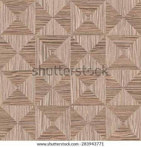 Abstract triangle pattern - seamless background - Blasted Oak Groove wood texture - stock photo