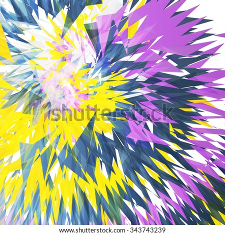 Abstract triangle shape background, colorful illustration - stock photo