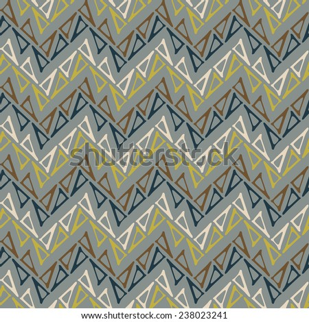 Abstract triangle zigzag textured background. Seamless pattern.  - stock photo