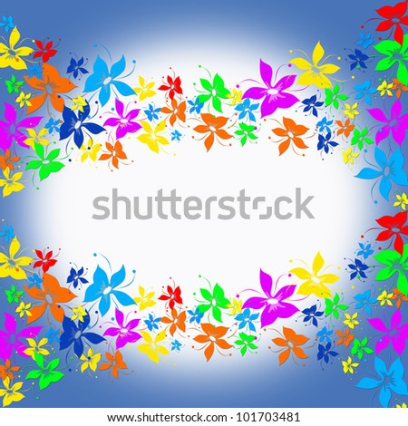 Abstract tropical background - stock photo