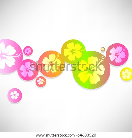 Abstract tropical background . Raster version - stock photo