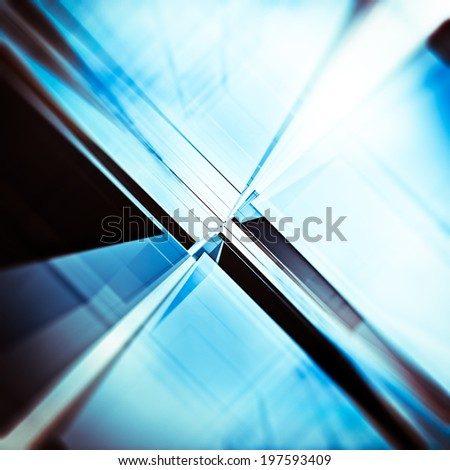 Abstract tunnel. Building design and 3d model my own - stock photo