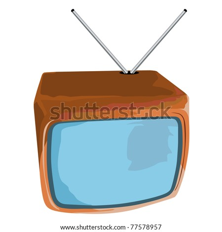 abstract tv icon - stock photo