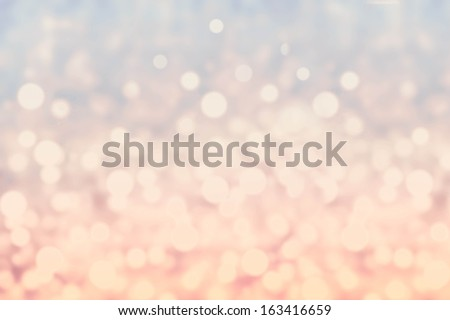 Abstract twinkled bright background with bokeh defocused blur lights. Festive Sparkle Background.  - stock photo