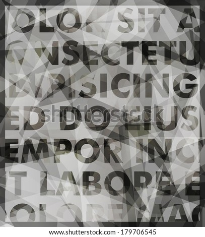 Abstract   typography background - stock photo