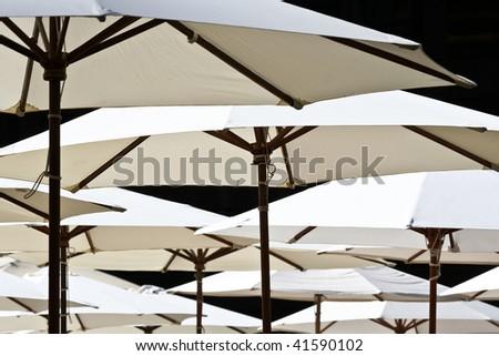 Abstract Umbrellas Shot - stock photo