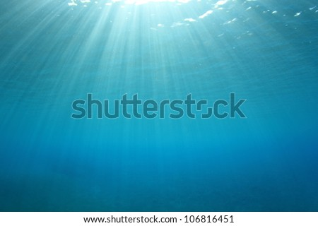 Abstract Underwater Blue Background - stock photo