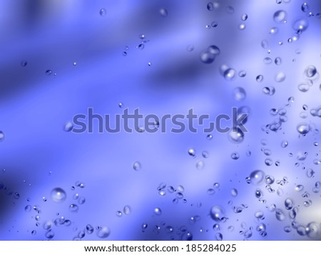 Abstract underwater with bubbles - stock photo