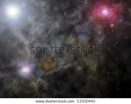 Abstract universe - stock photo