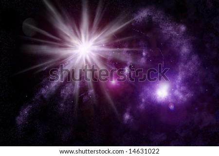 Abstract universe - space nebula - stock photo
