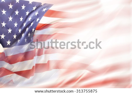 Abstract USA flag. Copy space - stock photo