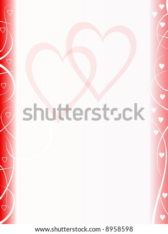 abstract valentine background - stock photo