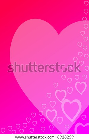 abstract valentine background formed by hearts - stock photo