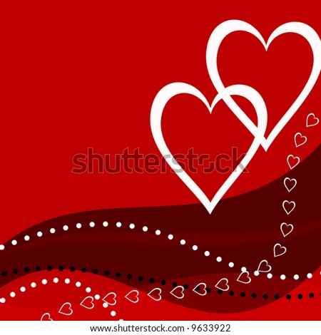 abstract valentine card - stock photo