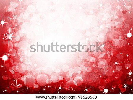 Abstract Valentine' day background with space for your text - stock photo