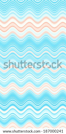 Abstract vertical background with a detailed wavy pattern in high resolution in light blue and orange