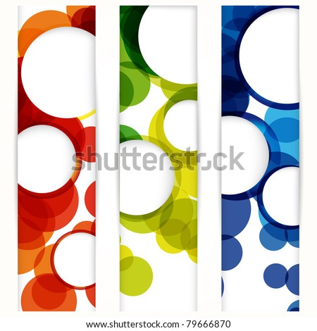 Abstract vertical banner with forms of empty frames for your www design. - stock photo