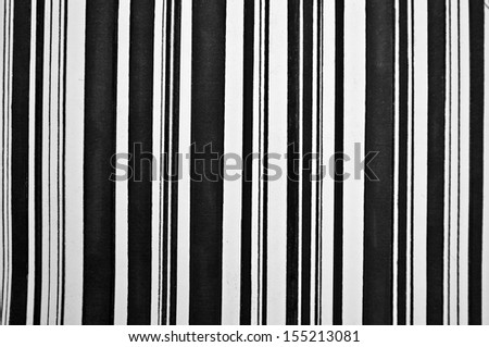 Abstract vertical black and white painted stripes - stock photo