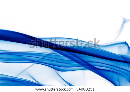 abstract vibrant blue and white background - stock photo