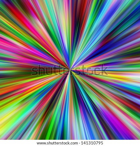 Abstract vibrant colors explosion. - stock photo