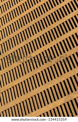 Abstract view of a brick facade downtown skyscraper. - stock photo