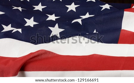 Abstract view of American flag.
