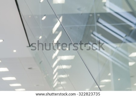 Abstract view of glass partitioning - stock photo