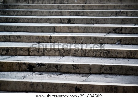 Abstract view of stairs - stock photo