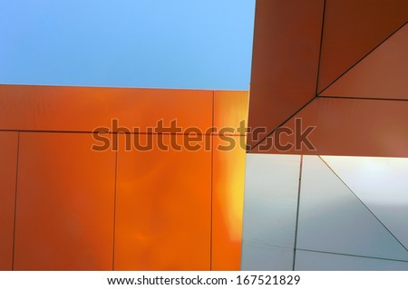 abstract view of translucent and colorful ceiling  - stock photo