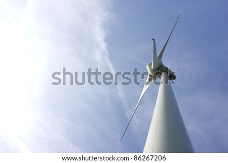 Abstract view of Windturbine - stock photo