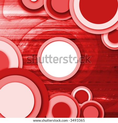 abstract vintage background with circle and swirl
