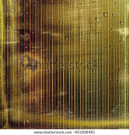 Abstract vintage background with faded grungy texture. Aged backdrop with different color patterns: yellow (beige); brown; green; red (orange); gray - stock photo