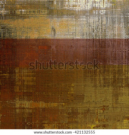 Abstract vintage background with faded grungy texture. Aged backdrop with different color patterns: yellow (beige); brown; gray; black - stock photo