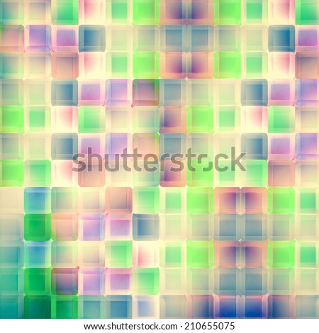 Abstract vintage background, with glass box in disco room - stock photo