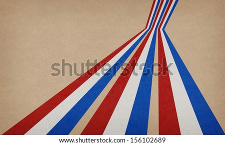 Abstract vintage background with stripes in the colors of natherlands flags.