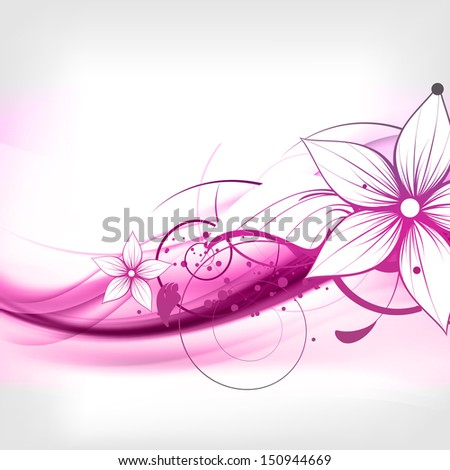 abstract vintage floral background - stock photo
