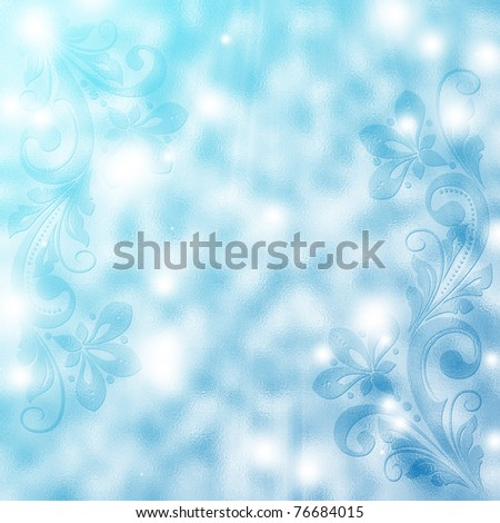 abstract vintage floral  background with decorative flowers for design
